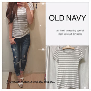 OLD NAVY ボーダーTシャツ