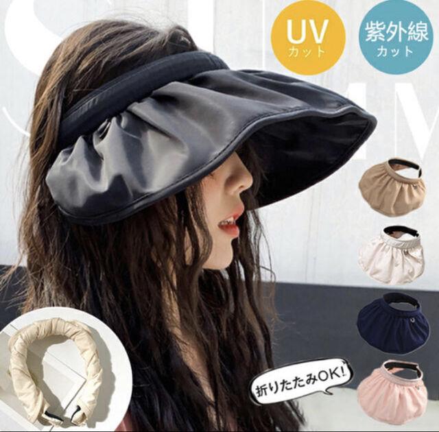 帽子サンバイザー2wayヘアバンド uvカッド - フリマアプリ&サイトShoppies[ショッピーズ]