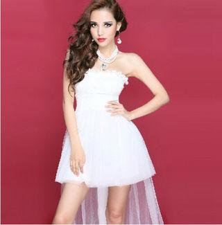 白 ミニウエディングドレス ワンピ ドレス キャバドレス