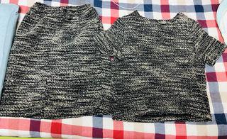 HARE'S セットアップ ニットスカートシャツトップス