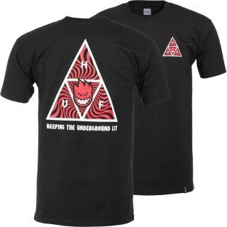 HUF Tシャツ SPITFIRE ブラック  XL ハフ