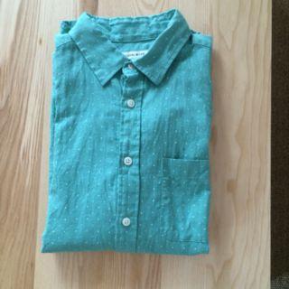 メンズ七分袖シャツ