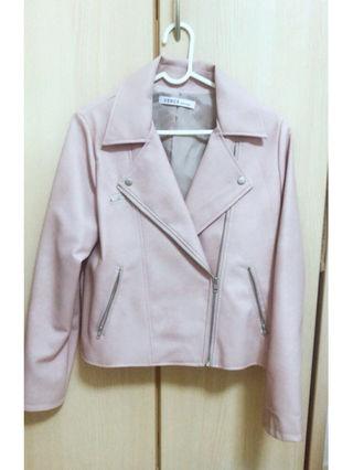 ピンク ライダースジャケット