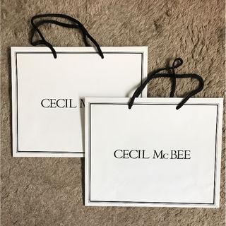 CECIL McBEEショップ袋2枚