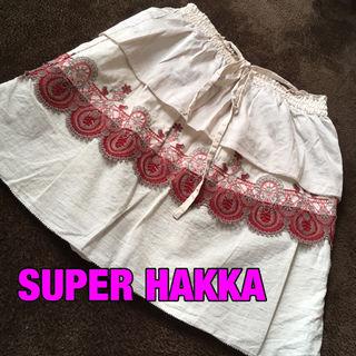 SUPER HAKKA刺繍キャミ・スカート