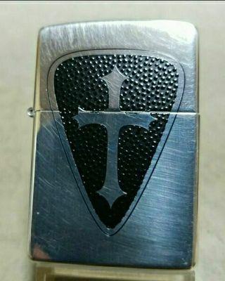 新品98D`Zippo銀張りクロスデザイン送料無料