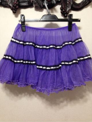 ボディライン紫パニエ