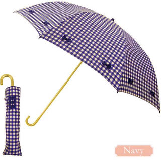 Pink trickギンガムチェック 折りたたみ傘