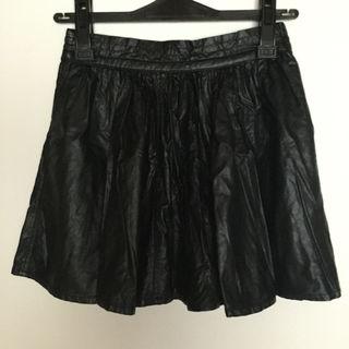 ByeBye レザーフレアスカート