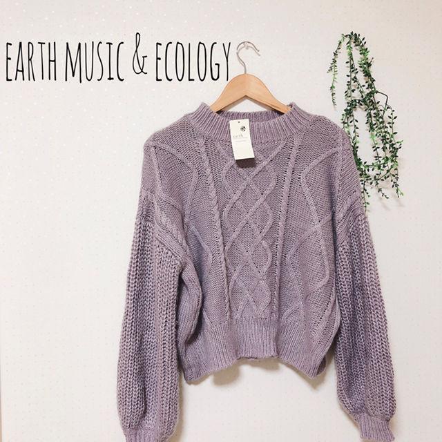 【新品 定価4990】earth ボリューム袖ニット(earth music&ecology(アースミュージック&エコロジー) ) - フリマアプリ&サイトShoppies[ショッピーズ]