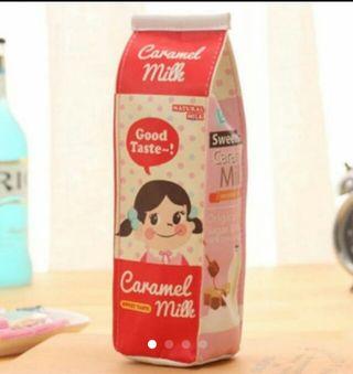 ★大人気!!★ ポーチ 牛乳パック型 ペンケース 送料込み