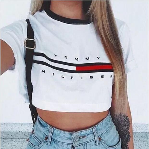 大人気 トミー好きに ショート丈Tシャツ(tommy girl(トミーガール) ) - フリマアプリ&サイトShoppies[ショッピーズ]