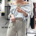 新品 MURUA オフショルストラップシャツ