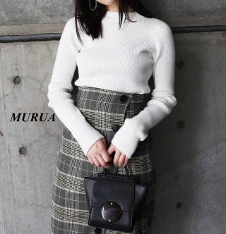新品 MURUA リブニット