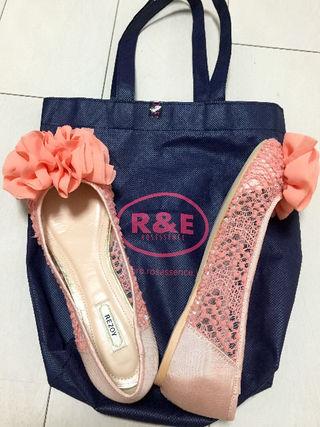 R&E新品上品お花ペタンコ