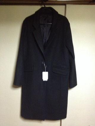 新品タグ付き黒ロングコート