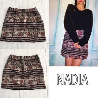 NADIA ゴブラン織りミニスカート