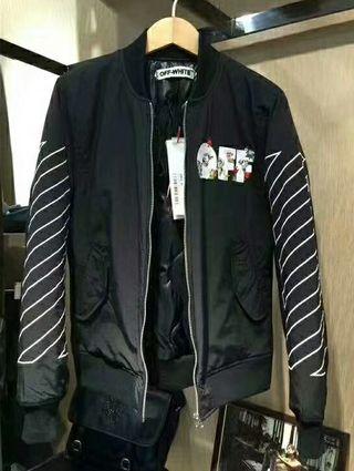 OFF-WHITE 高品質ファスナージャケットコート