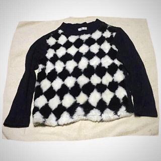 BANK KIDふわもこモノトーンセーター 150