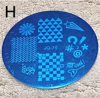 新品ネイルプレート  幾何学模様 H