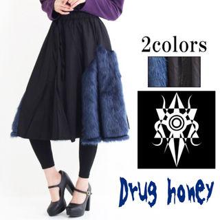 【新品/Drug honey】サイドエコファー切替スカート