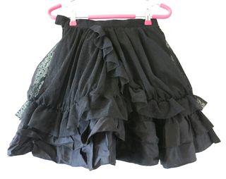 ピースナウ  チュール重ねミニスカート