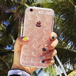 ぷっくりハートが可愛い iphone7 ケースぷくぷく