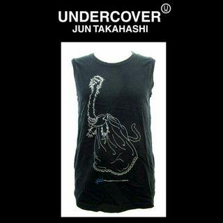 アンダーカバー UNDERCOVER 黒イラストタンクトップ