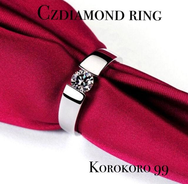 Czダイヤモンドリング 18kgpホワイトゴールド【12号】 - フリマアプリ&サイトShoppies[ショッピーズ]