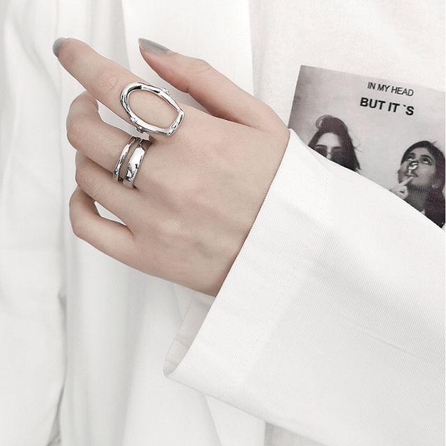 シルバー リング指輪 フリーサイズ 2個 - フリマアプリ&サイトShoppies[ショッピーズ]