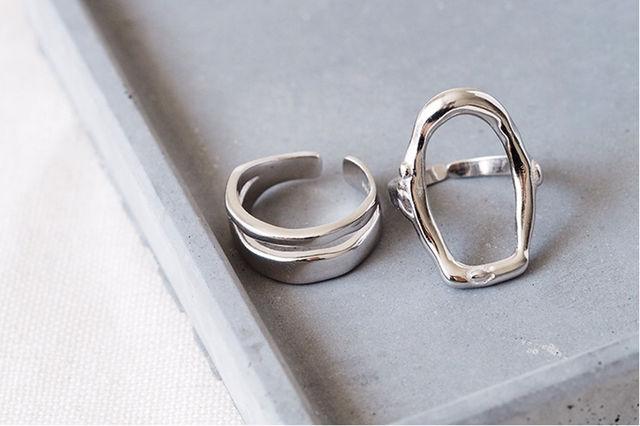 シルバー リング指輪 フリーサイズ 2個