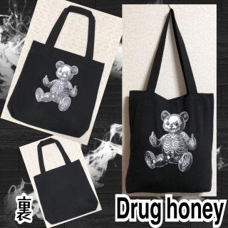 【新品/Drug honey】FUCKスケルトンテディトート