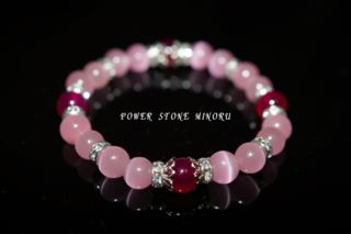 ピンクの可愛いレディースのパワーストーン数珠