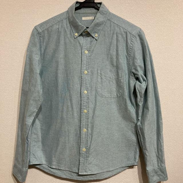 GU ジーユー ボタンダウンシャツ 薄い緑(GU(ジーユー) ) - フリマアプリ&サイトShoppies[ショッピーズ]
