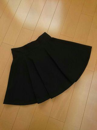 送料込ワンウェイフレアスカート ブラック/M 新品タグ付