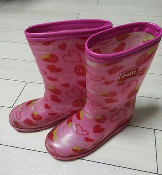 20.0~キッズ女の子レインブーツ雨靴
