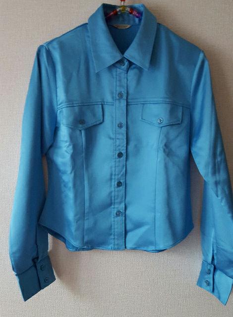 シャイニーシャツ ブルー