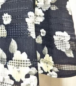 花柄スカート ネイビー 夏物