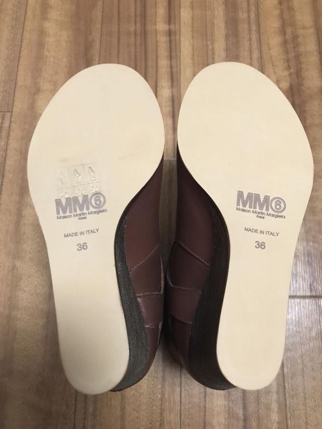MM6 マルタンマルジェラ ウェッジショートブーツ  36