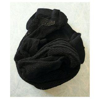最終価格《ELLE》網タイツ 黒・S~L