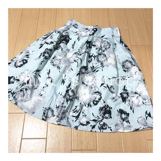 神戸レタス花柄フレアスカート