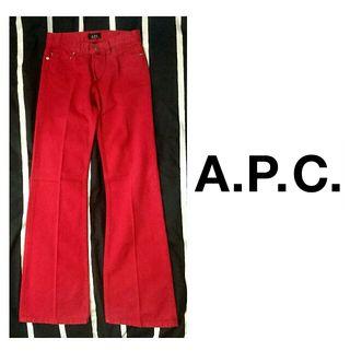 新品未使用 APC アーペーセー 赤コットンワイドパンツ
