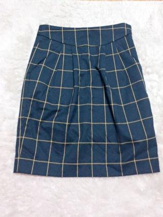 ジーナシス チェックタイトスカート