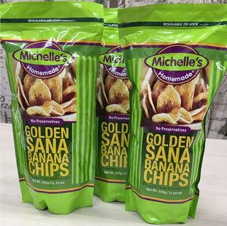 ミシェルのゴールデン サナ バナナチップス ×3袋