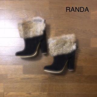 RANDA ファーブーツ