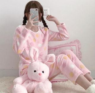 人気商品!可愛パジャマモコモコルームウェア