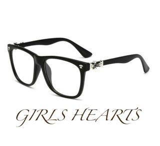 送料無料クロムゴールド黒ブラッククロス十字架眼鏡メガネめがね