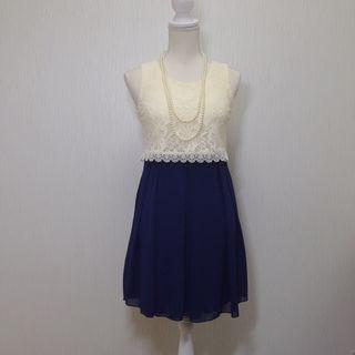 【新品】上品レースのコクーンスカートドレス