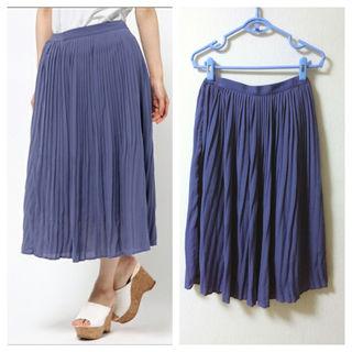 新品*シフォンプリーツスカート ブルー