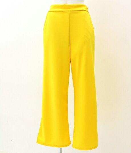 ANAP 裾スリットカラーパンツ yellow